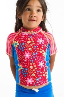 UV swimwear lets girls play it safe, and adorable, in the sun.
