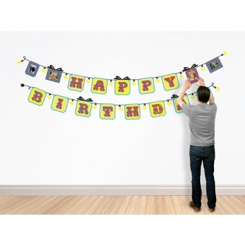 Party on and on with this reusable birthday banner