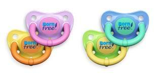 BornFree pacifiers go BPA free. Which is a pretty good trait in a pacifier if you ask us.