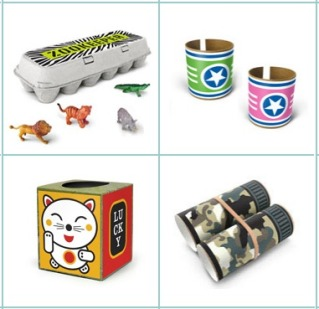 Box Play Stickers turn trash into recycled toy treasure