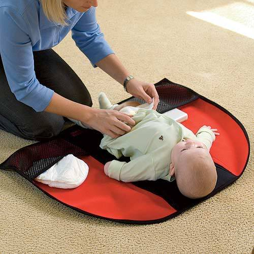 A baby changing pad that stays clean? Well, pretty much. Yeah.