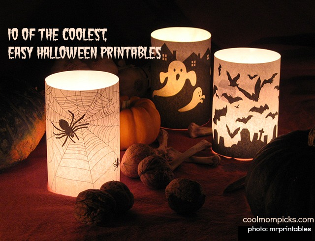 Haunt your house with 10 of the coolest, easy Halloween printables. No glue guns required.