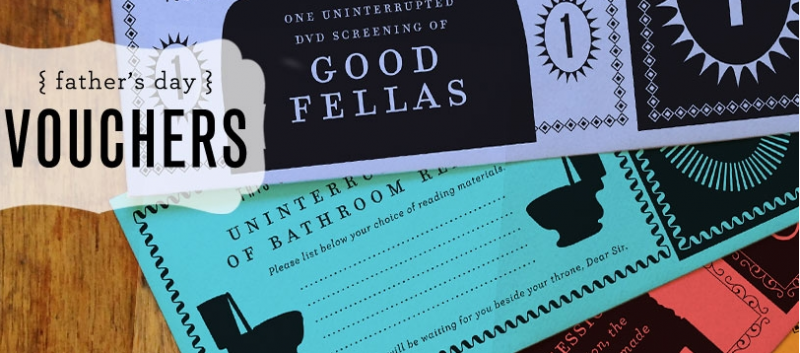 2 great DIY Father's Day ideas, including the best printable Father's Day coupons we've seen