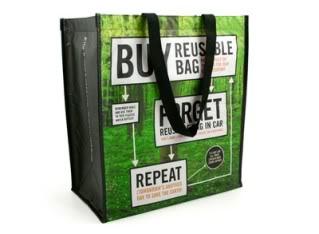 Reusable shopping bags with a sense of humor