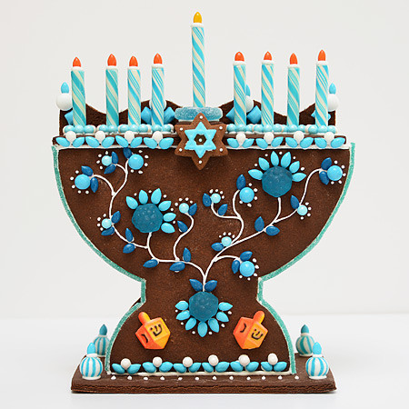 Gingerbread menorah kit | Cool Mom Picks