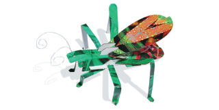 Get crafty, young grasshopper, with 3D puzzle sculptures