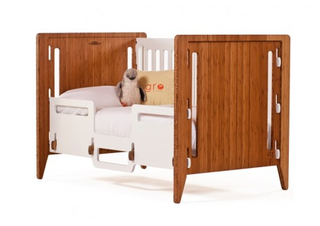 "Gro Crib: Giving ""convertible crib"" a whole new meaning"