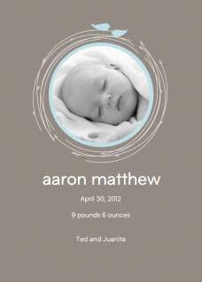Hallmark.com launches personalized baby announcements. Finally.