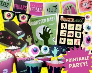 Cool Halloween printables that don't look like bad clip art