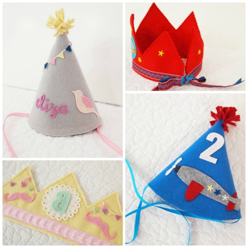 The most gorgeous handmade birthday crowns and party hats. Oof.