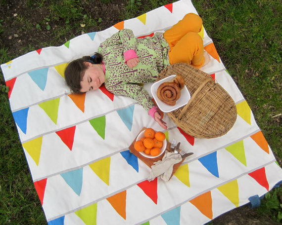 Gorgeous waterproof picnic blankets: if only they kept the rain away too.