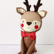 holiday gift: handmade reindeer doll