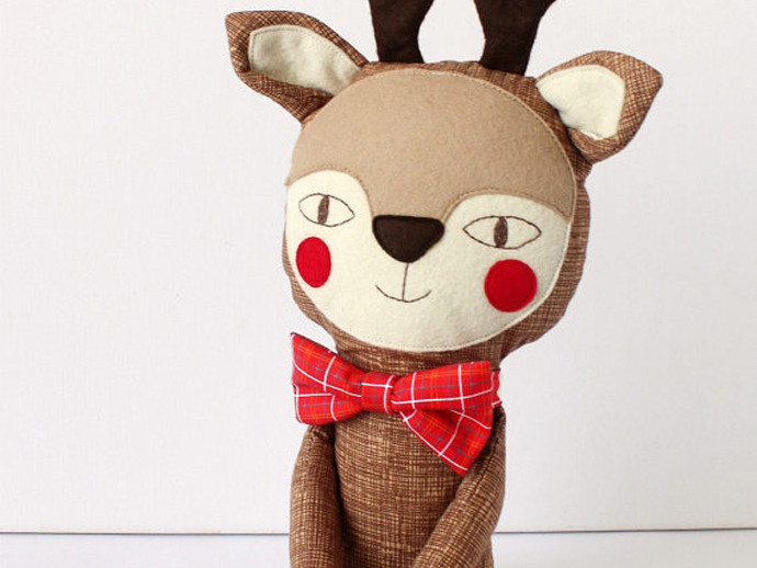 holiday gift: handmade reindeer doll | cool mom picks