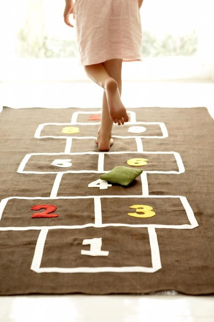 Hopscotch mat: fab indoor fun for rainy spring days