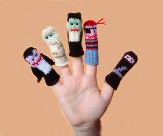 Fabu finger puppets, now with extra Halloween awesomesauce
