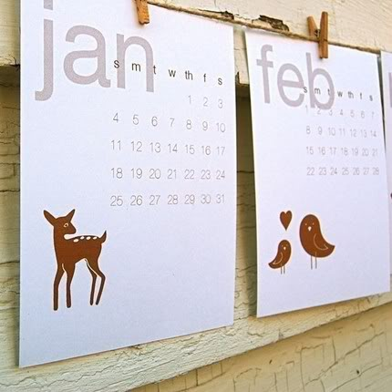 Gorgeous 2009 calendars: Just add paper