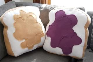 Pillow sets that go together like, well, peanut butter & jelly