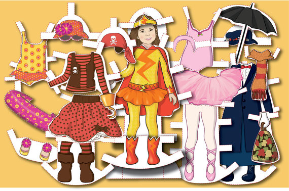 Personalized Paper Dolls | Cool Mom Picks
