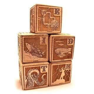 Steampunk building blocks for the junior mad scientist