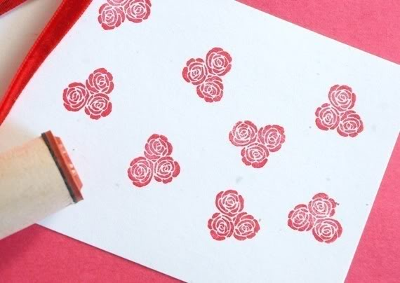 Rubber stamp out boring Valentine's cards