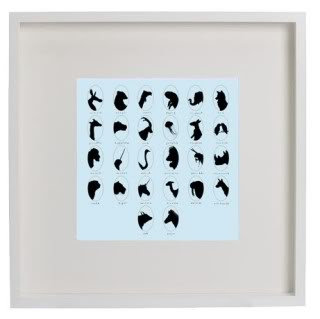 I (Lovebirds-Ostrich-Vicuna-Elephant) this print