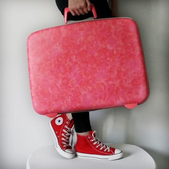 Vintage upcycled luggage makes travel fun again