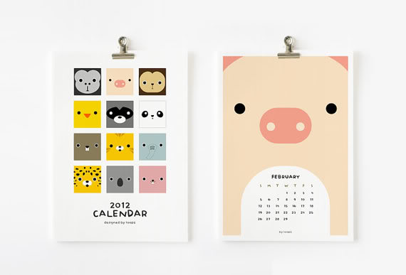 Printable calendars for 2012 that the kiddos will love too.
