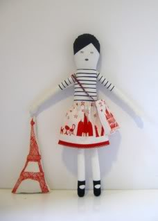 A magnifique DIY doll pattern for your wee Francophiles