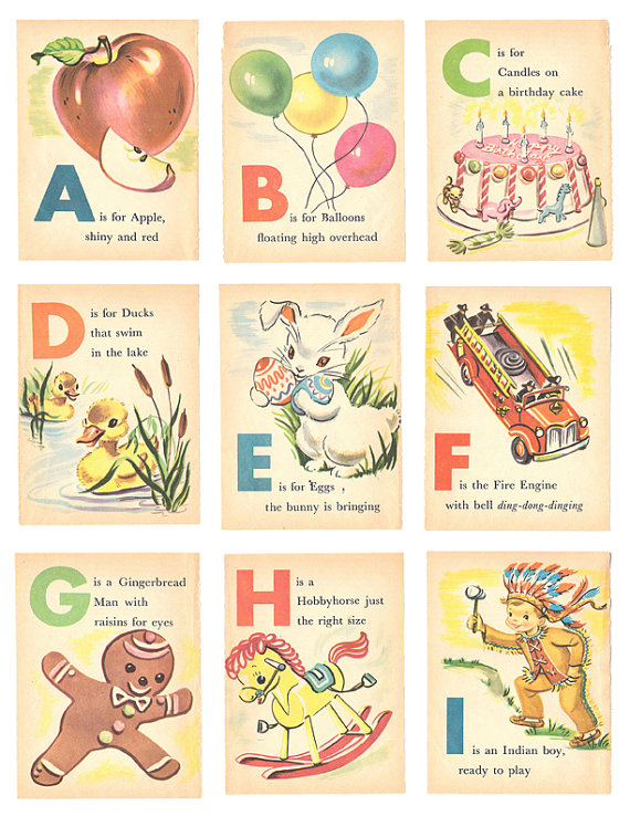 ABCs from a time when B was for Balloon, not Boy Band
