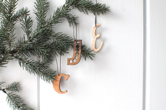 laser cut initial ornaments from havok design