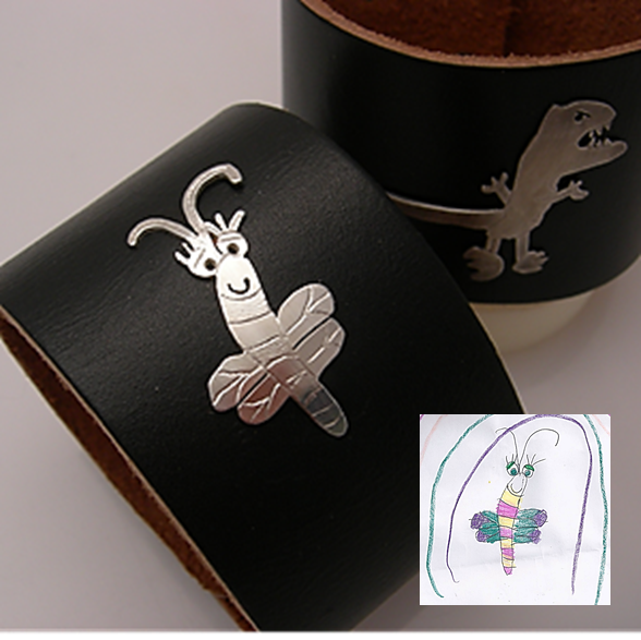 Keepsake jewelry from children's artwork for moms who aren't always the keepsake jewelry types