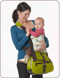 The diaper bag that carries everything including the baby