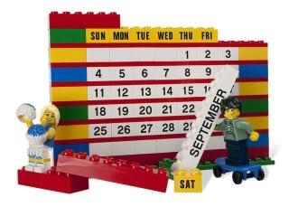 Building your calendar year in LEGO bricks