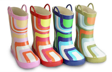 Rainboots for the 2s, 3s and 70s