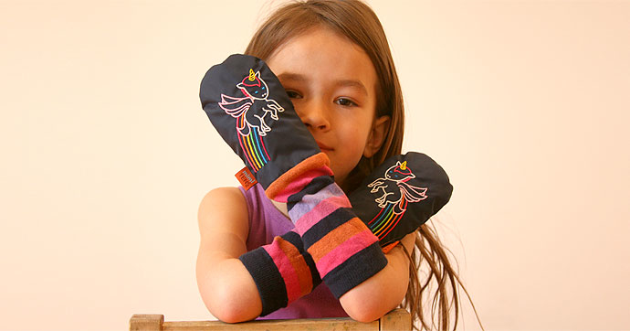 Mighty mittens that stay put so kids stay warm