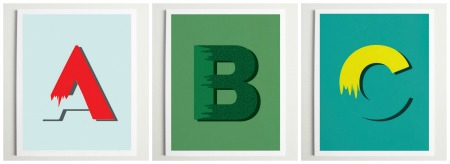 ABC posters, modern Bauhaus style