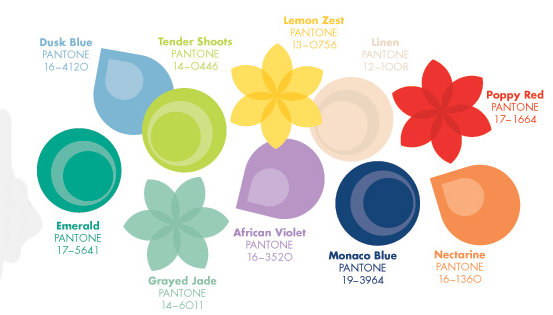 Pantone's spring 2013 colors are announced and we're not feeling blue about it at all