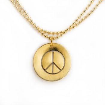 Not your average flea market peace sign necklace