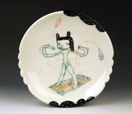 Plates to support the hungry and the art-starved