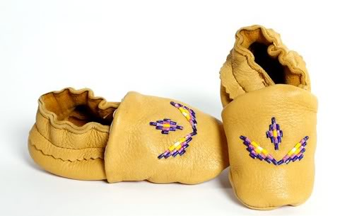 First baby shoes by First Nations women