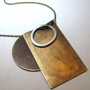 Brass meets sterling, circle meets rectangle