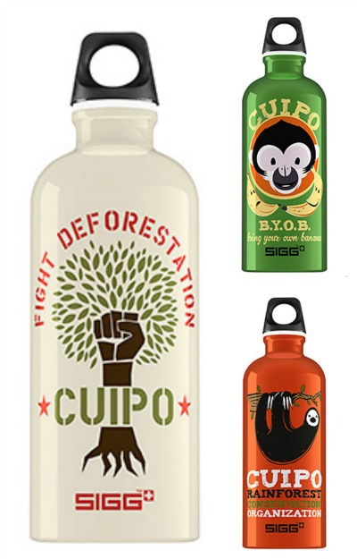 Respect and protect rainforests with supercool reusable water bottles