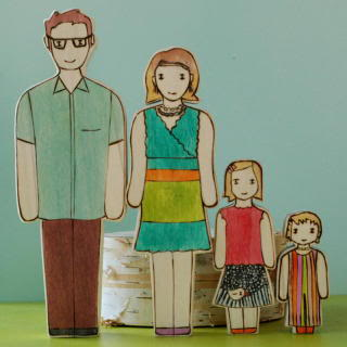 Adorable families, custom made to look just like yours