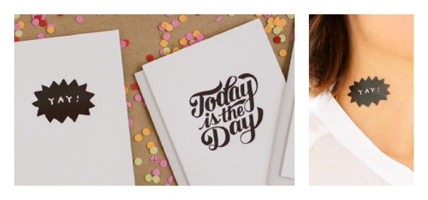 The coolest temporary tattoos are now the coolest greeting cards