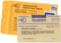 Modern telegrams -(STOP)- For real -(STOP)-