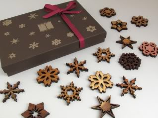 Life is like a box of handmade snowflake ornaments