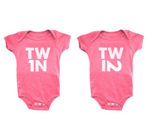 Twin baby gifts that are two of a k1nd.
