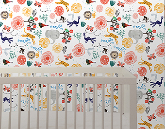 Wallpaper that's easy on the eyes and easier to install