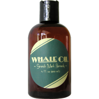 """Whale Oil"" for pregnancy stretch marks. Insert your own punchline here."