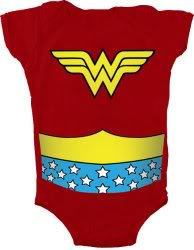 The Wonder Woman onesie for your Wonder Woman-to-be